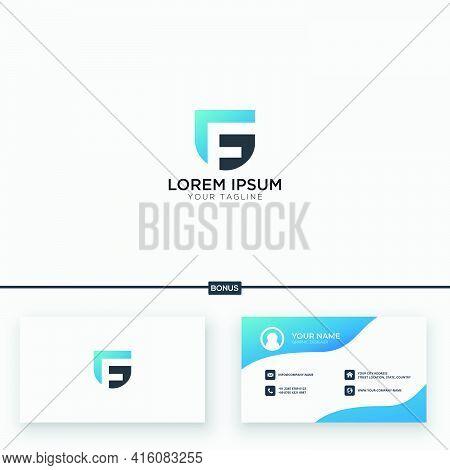 Monogram Logo Simple Letter Gf Logo Design