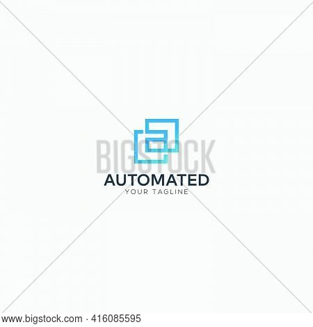 Abstract Letter A Square Logo Modern A Logo