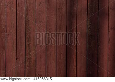 Wood Plank Texture. Dark Panel Board Table With Copy Space. Timber Plank Surface Wall For Vintage Gr