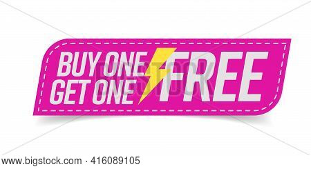 Buy One Get One Free Bogo Badge For Promotion Campaign
