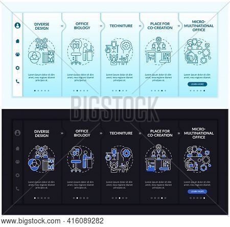 Workplace Trends Onboarding Vector Template. Responsive Mobile Website With Icons. Web Page Walkthro