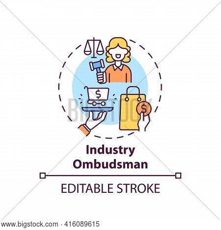 Industry Ombudsman Concept Icon. Consumer Protection Service Idea Thin Line Illustration. Customer R
