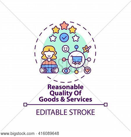 Reasonable Goods And Services Quality Concept Icon. Fundamental Consumer Right Idea Thin Line Illust