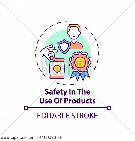 Safety In Products Use Concept Icon. Fundamental Consumer Right Idea Thin Line Illustration. Using G