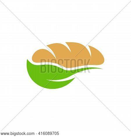 Leaf Bakery Logo Design Vector Illustration, Creative Bakery Logo Design Concept Template, Symbols I