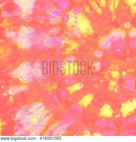 Spiral Multi Paint. Artistic Patterns. Batik Style. Psychedelic Dyed Texture. Tye Dye Circle Paintin