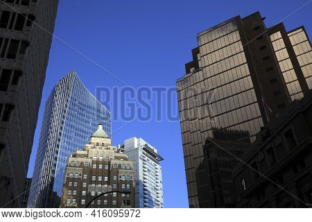 Vancouver, America - August 18, 2019: Vancouver Building View, Vancouver, America