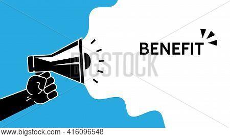 Benefit, Promotion Concept Symbol Design. Simple Element Illustration. . Online Web And Mobile. Prom