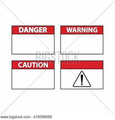 Outline Warning Icon. Warning Sign, Important Notification, Urgent Attention, Caution Error. Vector