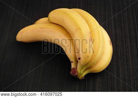 Bunch Of Bananas. Low Key. Close Up.