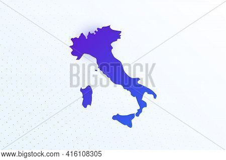 Map Icon Of Italy. Colorful Gradient Map On Light Background. Modern Digital Graphic Design. Light W