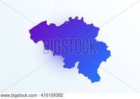 Map Icon Of Belgium. Colorful Gradient Map On Light Background. Modern Digital Graphic Design. Light
