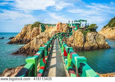 The Iron Fort At Nangan Island, Matsu, Taiwan. Translation: Iron Fort