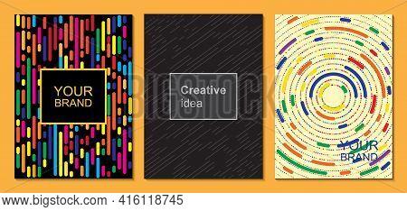 Elegant Textured Business Card Set, Geometric Energetic Shapes, Modern Design. Vector Illustration.