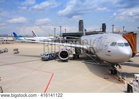 Tokyo, Japan - May 12, 2012: Aeroflot Airbus A330 At Narita International Airport, Tokyo. Narita Air
