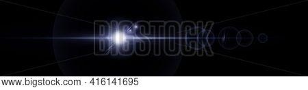 Lens Flare. Realistic Lens Flare Glow Light Effect. Vector Illustration