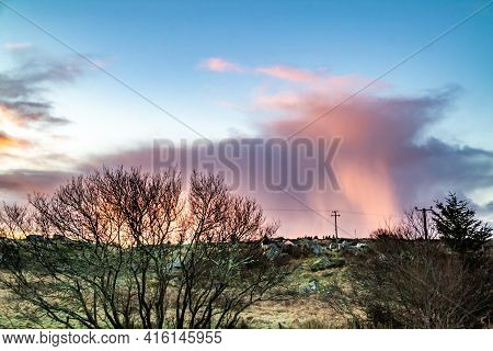 Stunning Clouds Above Peatbog In County Donegal - Ireland