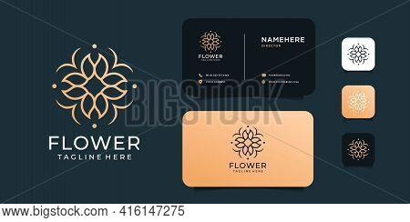 Feminine Inspirational Luxury Flower Beauty Fashion Health Logo Design Vector Concept. Logo Can Be U