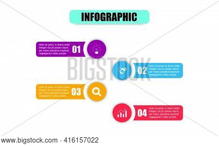 Vector Circle Design Template Infographic For Illustration. Presentation Business Infographic Templa