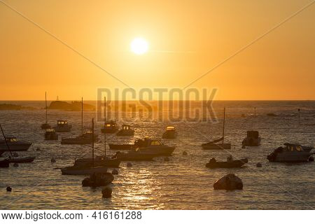 Sunset On The Harbour Of Tregastel