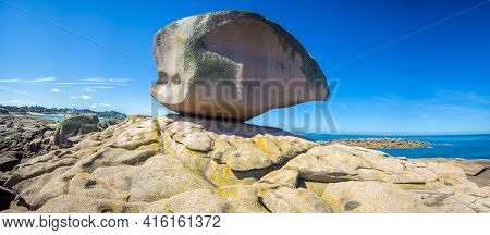 The Dice Of Tregastel Or The Rock In Pink Granite Coast. Armor Coast, Brittany, France 2014.