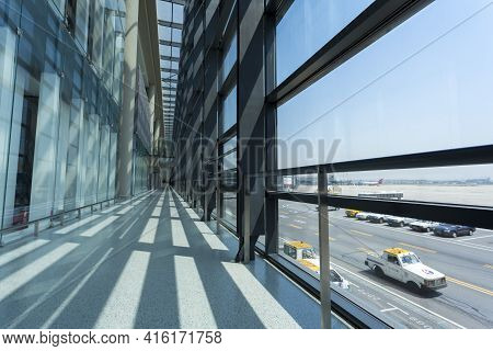 Shanghai, China - 26/04/2013: Interior Of The New International Airport Of Shanghai Located At The W