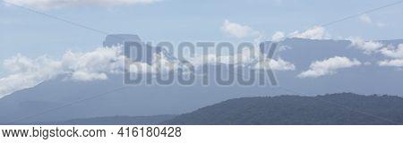 Clouds And Blue Sky In Gran Sabana Region, At Canaima National Park, Venezuela