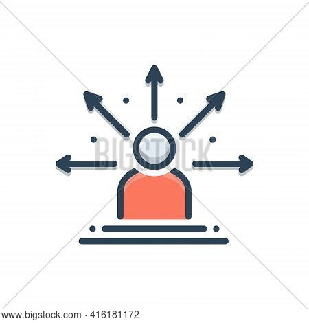 Color Illustration Icon For Decision-making Decision Making  Problem-solving Choices