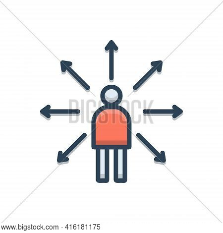 Color Illustration Icon For Decision-making Decision Making Concept Judgment