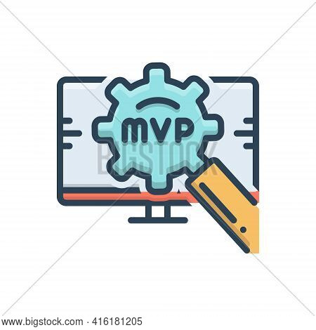 Color Illustration Icon For Mvp Competition Danger Explosion Valuable