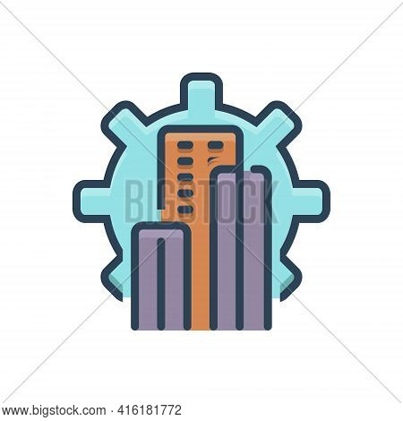 Color Illustration Icon For Development Evolution Growth Technology