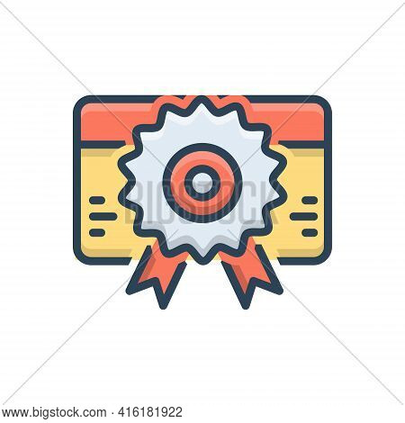 Color Illustration Icon For Licence Identification  Information Identity Certificate