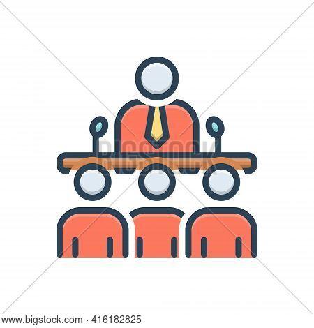 Color Illustration Icon For Team-speak Team Speak Conversation Meeting Discussion Discussion Speakin