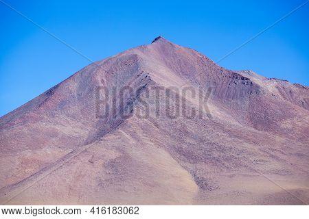 Colored Mountains In The Atacama Desert With Blue Sky In Eduardo Avaroa Andean Fauna National Reserv