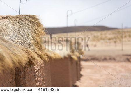 Details Of Adobe Houses In Cerrillos Village On Bolivian Altiplano Near Eduardo Avaroa Andean Fauna