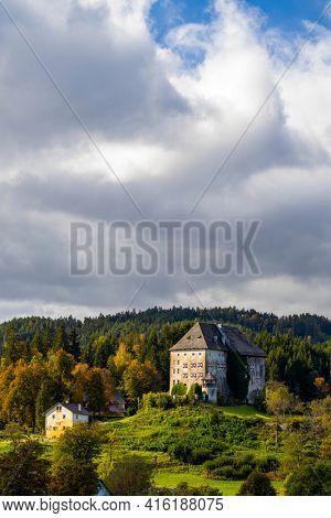 Moosburg castle in Carinthia, Austria