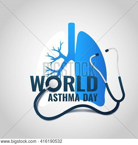 Vector Illustration On The Theme  World Asthma Day.