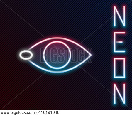 Glowing Neon Line Blindness Icon Isolated On Black Background. Blind Sign. Colorful Outline Concept.