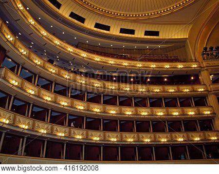 Vienna, Austria - 10 Jun 2011: The Opera House In Vienna, Austria