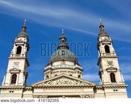 Budapest, Hungary - 13 Jun 2011: St. Stephen Basilica In The Center Of Budapest, Hungary