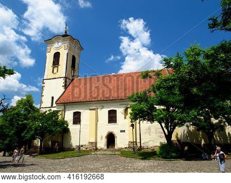 Szentendre, Hungary - 13 Jun 2011: The Church In Szentendre Town In Hungary Country