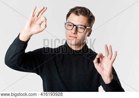 cool man wearing AR glasses smart glasses  futuristic technology