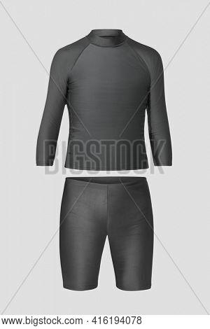 Men's rash guard and shorts swimwear fashion