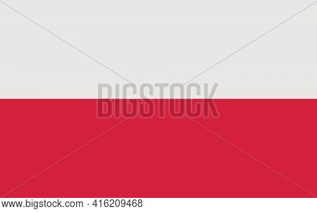 Polish Flag. Official Flag Of The Republic Of Poland With The Correct Proportions And Colors. Parall