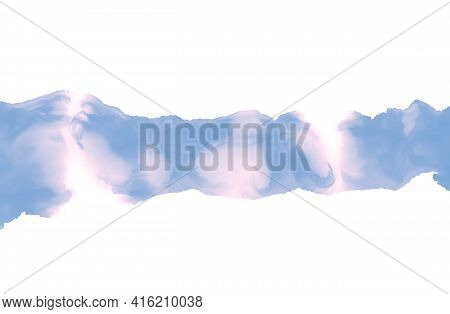 Abstract Painting Isolated On White. Painting Alcohol Ink Technique. Bright Blue-pink Stains Texture