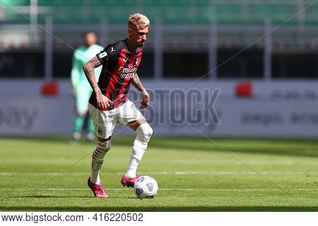 Milano, Italy. 03th April 2021 . Samu Castillejo Of Ac Milan  During The Serie A Match Between Ac Mi