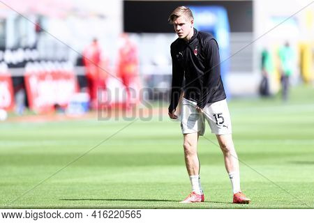 Milano, Italy. 03th April 2021 . Jens Petter Hauge Of Ac Milan  During The Serie A Match Between Ac