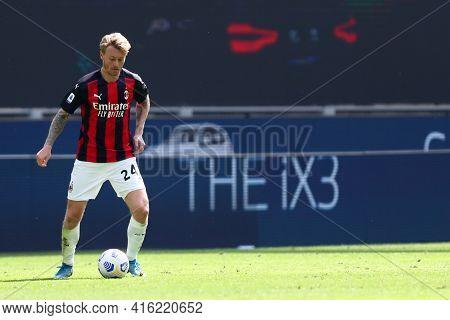Milano, Italy. 03th April 2021 . Simon Kjaer Of Ac Milan  During The Serie A Match Between Ac Milan