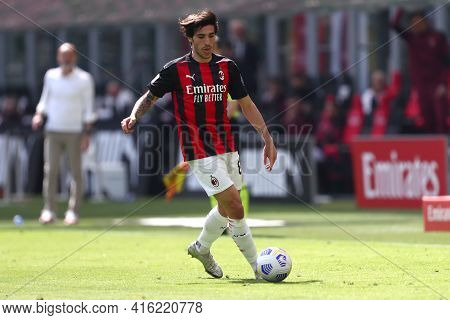 Milano, Italy. 03th April 2021 . Sandro Tonali Of Ac Milan  During The Serie A Match Between Ac Mila