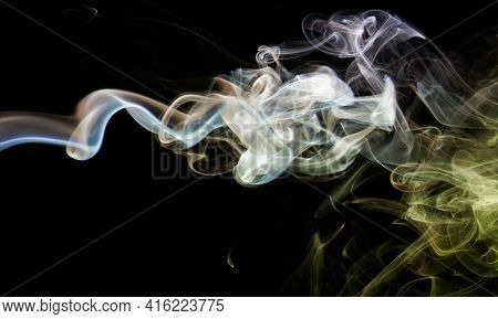 Abstract Brown Smoke Background